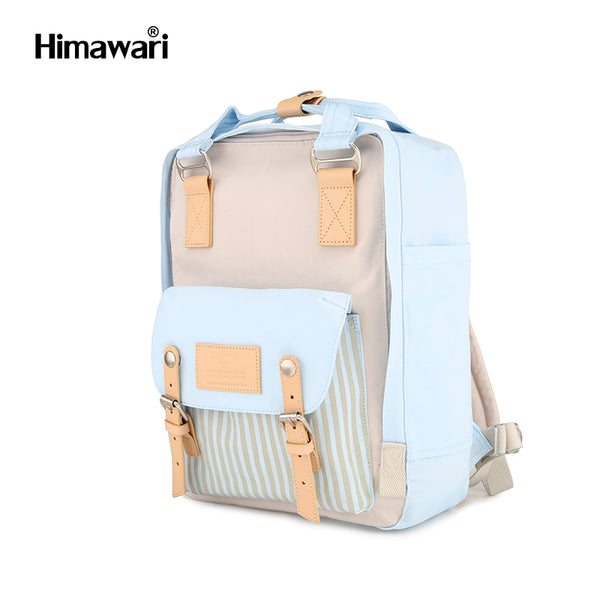Himawari Laptop/School BackPack Donut Series - Blue with Stripe