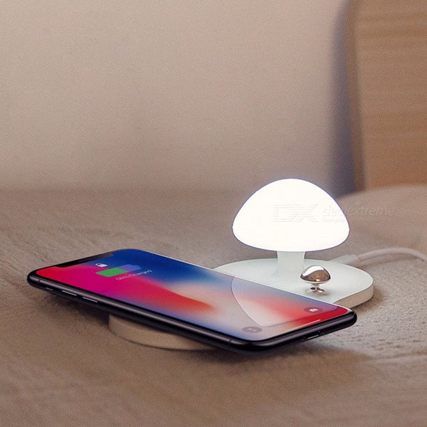Wireless Charger with Mushroom Night Light