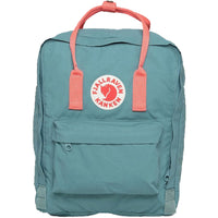 Kanken Mini backpack - Creamy Green with Pink Strap