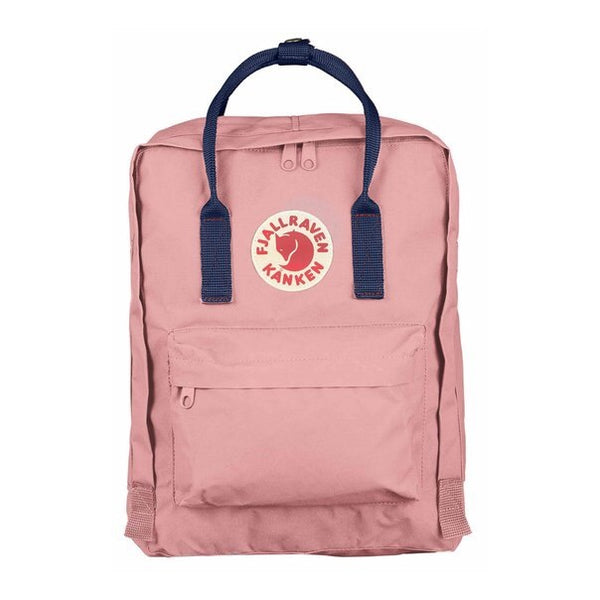 Kanken Mini backpack - Light Pink with Blue Strap