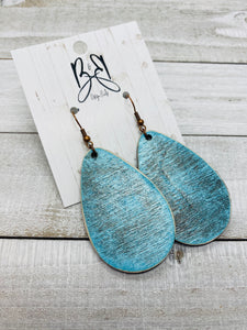 Distressed Teal Drop