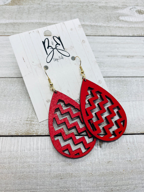 Teardrop ZigZag - Red