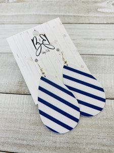 Wide Coco - Navy and White Stripe