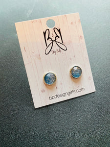 Druzy - Blue and Silver Ombre
