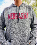 Nebraska Charcoal Fleck Women's Sweatshirt