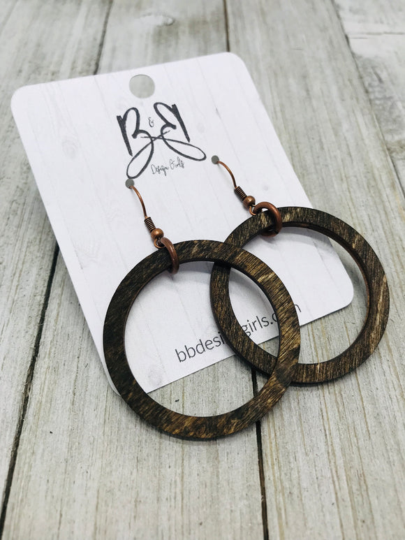 Wood Hoops - Stained