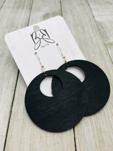 Wood Hoops- Full Hoop in Black