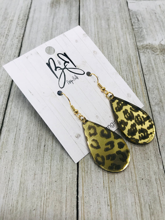 Drops - Mirrored Leopard
