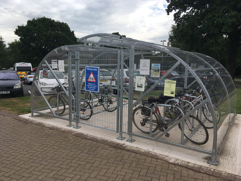 Cost Effective Circonomy Cycle Shelter for 10 Cycles
