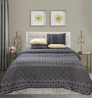 5 Pieces Reversible Bed Spread Set  - Medallion Moda