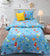 Cartoon Character Bed Sheet - Rocket Sky