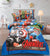 Cartoon Character Bed Sheet - Avengers