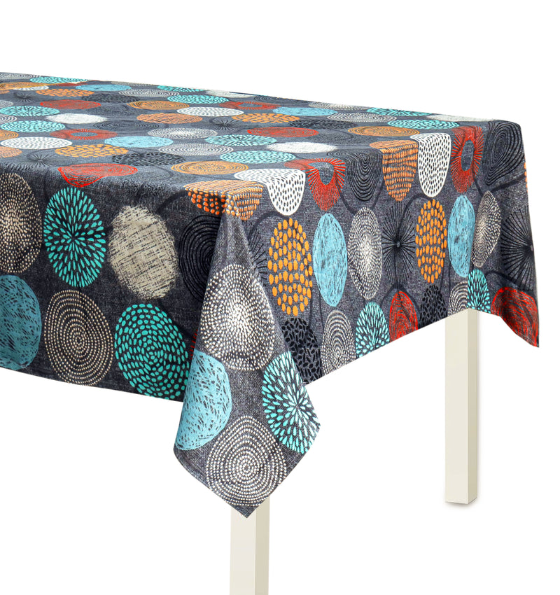 Digital Printed Table Cover For 6 & 8 Seater - Fire Works