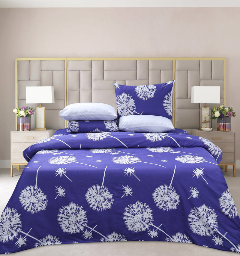 4 Pillows Digital Satin Bed Sheet - Sofeh