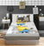 Cartoon Fitted Sheet - Minion Grey