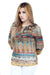 Jacquard Printed Top With Sleeves - Abstract
