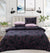 4 Pillows satin Bed Sheet - Black Mamba