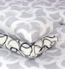 4 Pillows Bed Sheet - Pebble Grey