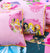 Cartoon Character Bed Sheet - Pink Disney Princess