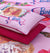 4 Pillows satin Bed Sheet - Barbie