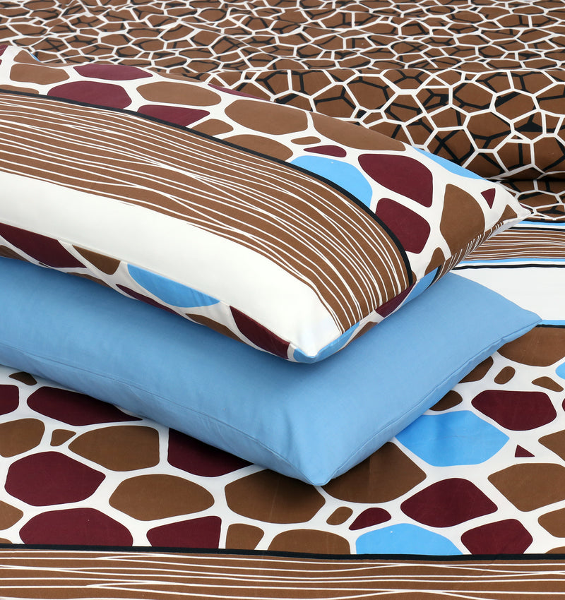 4 Pillows Bed Sheet - Pebbles