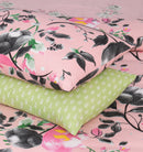 4 Pillows Bed Sheet - Pale Floral