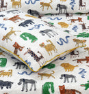 3 Pieces Single Cartoon Reversible Bed Spread Set  - Zoose