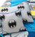 Cartoon Character Bed Sheet - Grey BATMAN