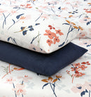 4 Pillows Bed Sheet - Muslin Floral