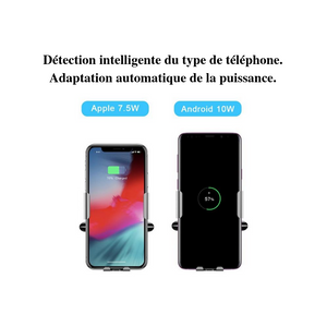 Support téléphone avec charge rapide à induction, détection automatique - accessories-car