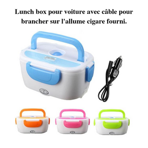 Lunch box chauffante allume cigare cable fourni - essentiel-auto