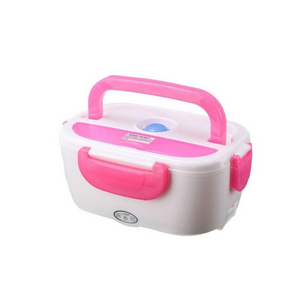 Lunch box chauffante allume cigare ROSE - essentiel-auto