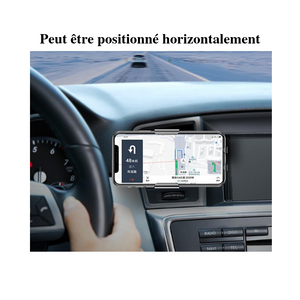 Support téléphone avec charge rapide à induction , position horizontale - accessories-car