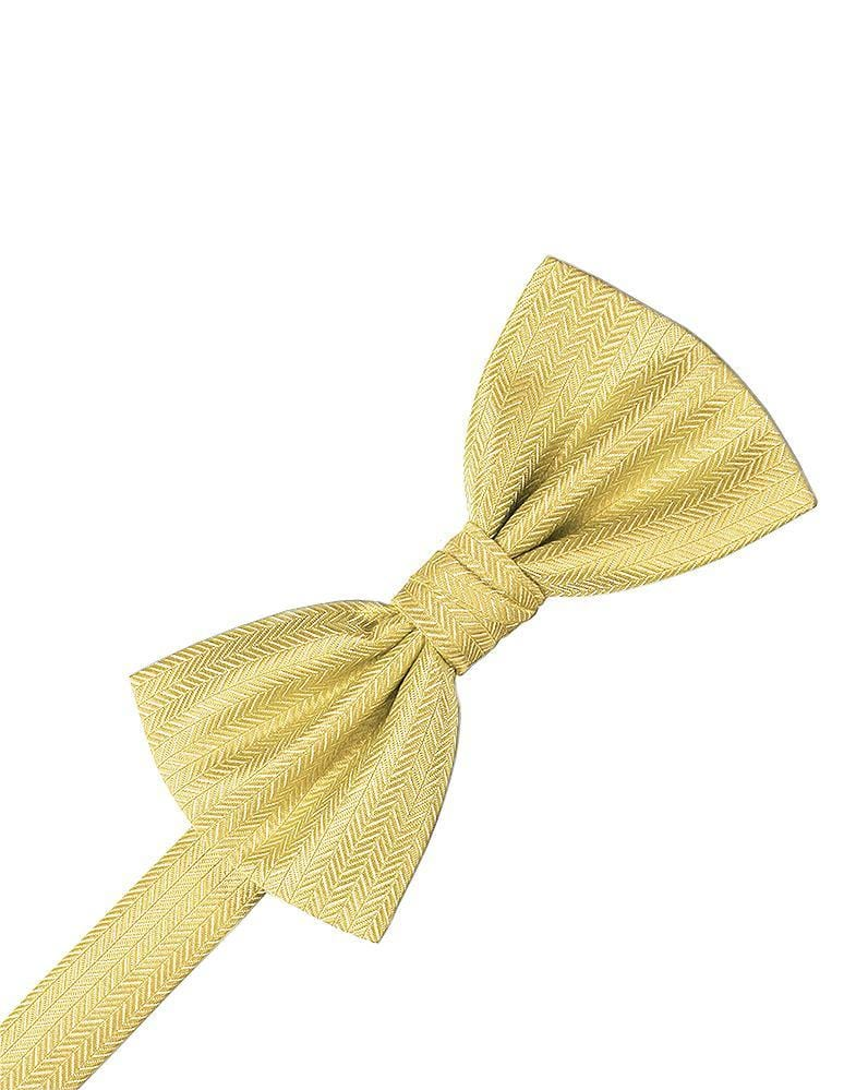 Buttercup Herringbone Bow Tie
