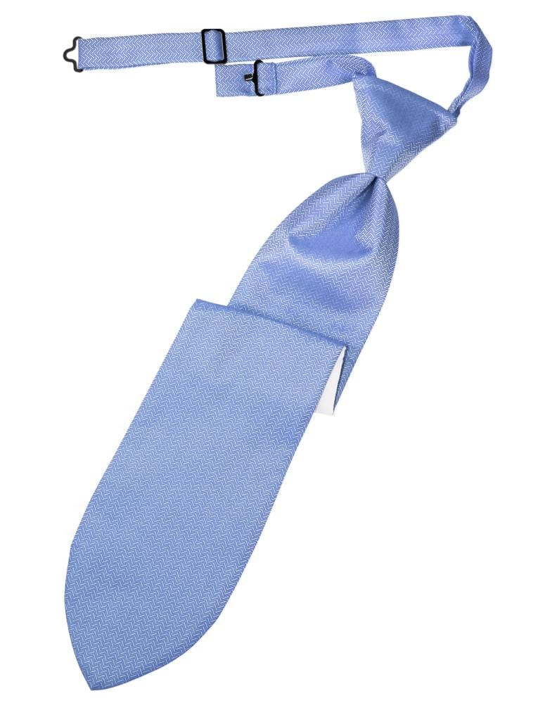 Cornflower Herringbone Kids Necktie