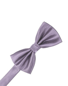 Heather Herringbone Bow Tie