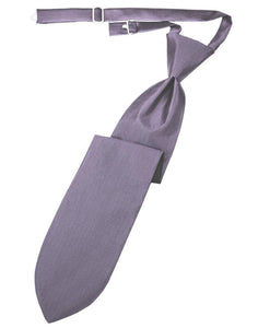 Heather Herringbone Kids Necktie