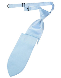 Powder Blue Herringbone Kids Necktie
