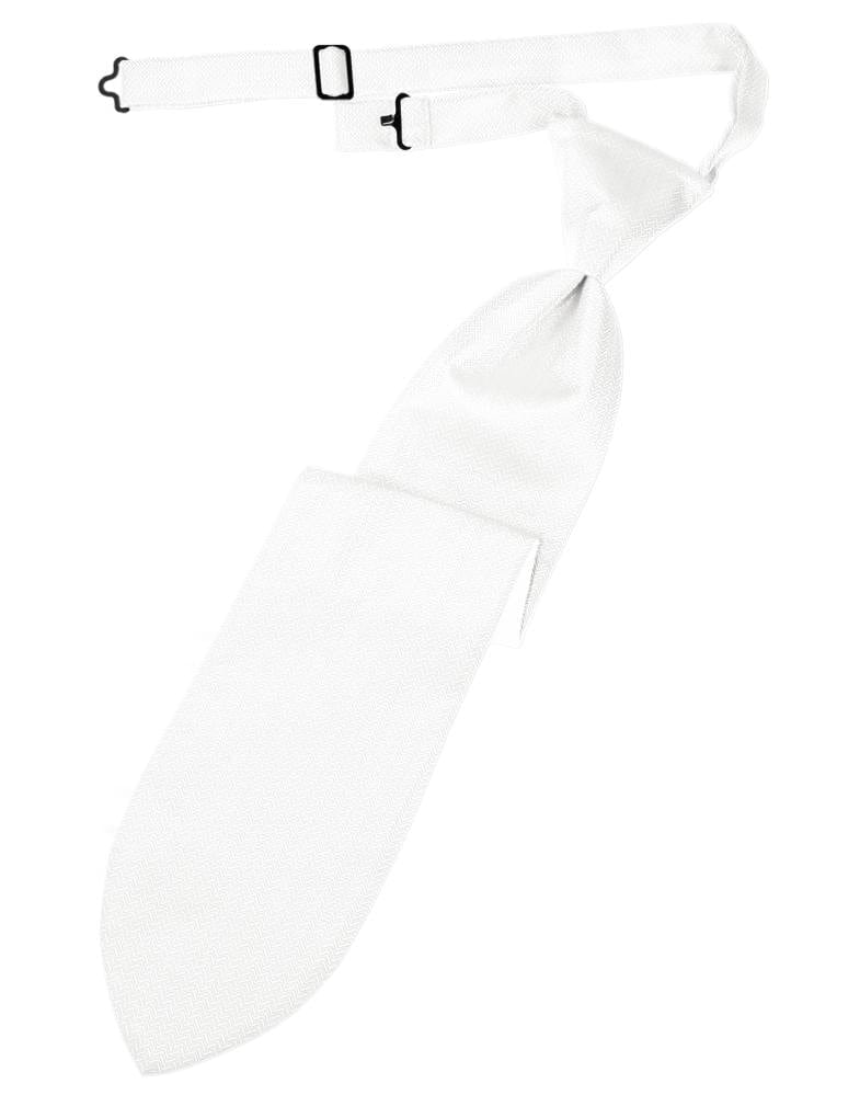 White Herringbone Kids Necktie
