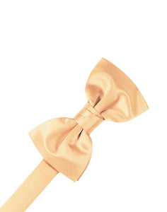Apricot Luxury Satin Bow Tie