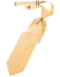 Apricot Luxury Satin Kids Necktie