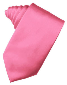 Bubblegum Luxury Satin Necktie