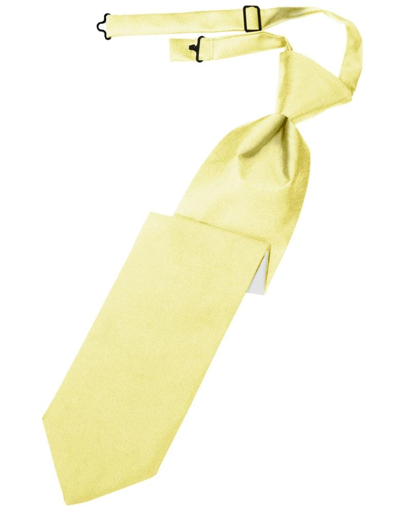 Canary Luxury Satin Kids Necktie