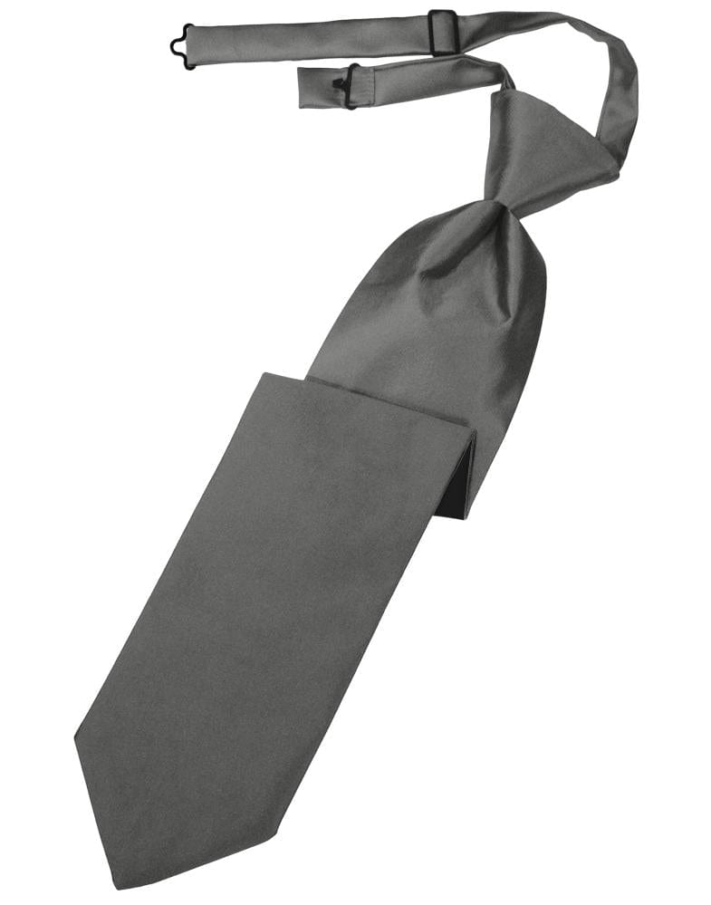 Charcoal Luxury Satin Kids Necktie