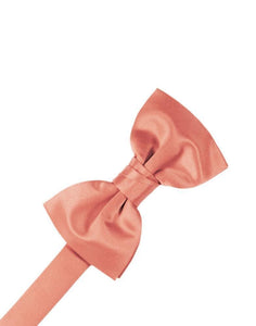 Coral Reef Luxury Satin Bow Tie