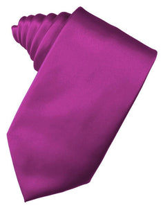 Fuchsia Luxury Satin Necktie