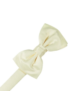 Ivory Luxury Satin Bow Tie