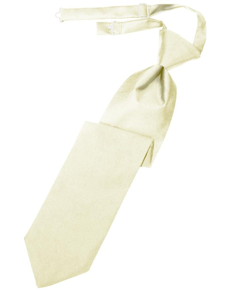 Ivory Luxury Satin Kids Necktie