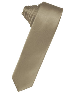 Latte Luxury Satin Skinny Necktie
