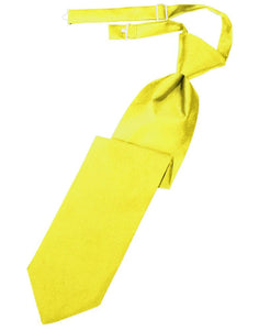 Lemon Luxury Satin Kids Necktie